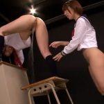【上原亜衣レズ動画】潮吹きが止まらない!ロリJKが友人の女子校生に手マンされ滝の様にマン汁を垂れ流す!