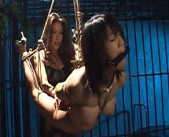 【SMレズ動画】ビアン女王様が清楚な巨乳のロリ娘を緊縛しクンニや玩具責めで調教し続ける!