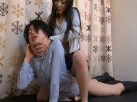 【ふたなりレズ動画】バリタチ同士のキャットファイトで激しい首締めSEXに白目剥いてガチ失神!