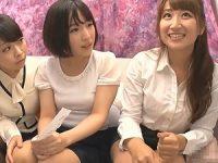 【レズ動画】S級美女OL二人組をナンパしてレズのお誘い!ベロチューするノンケ娘!